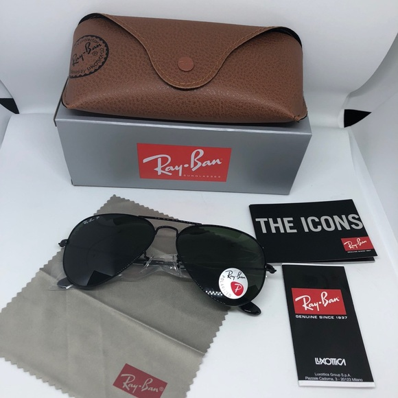6294e3221e Ray-ban sunglasses black polarized Size 58mm NWT